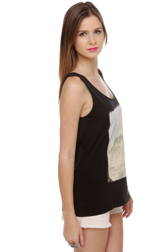 Insight Road Trippin' Black Print Tank Top