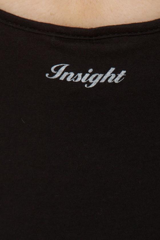 Insight Road Trippin' Black Print Tank Top