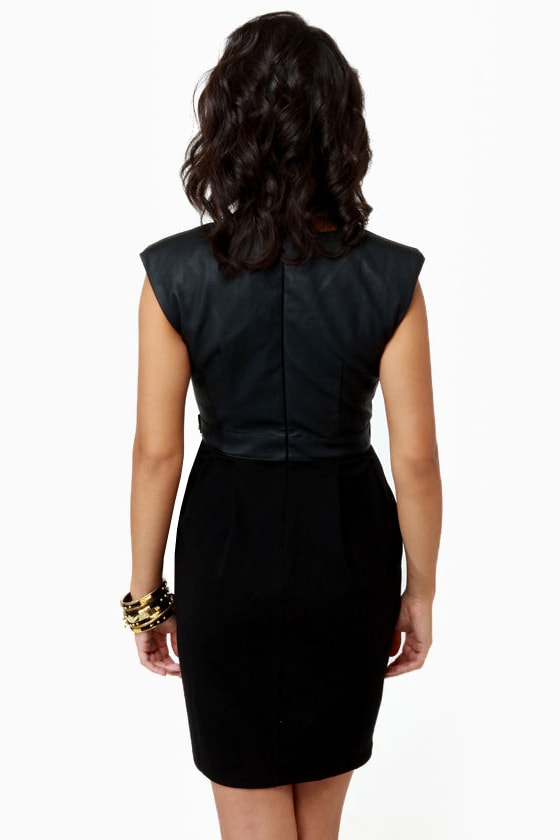 Here Noir There Black Belted Dress at Lulus.com!