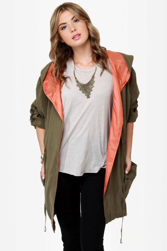 In a Cinch Olive Green Hooded Jacket