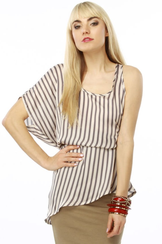 Hold On Brightly Striped Tank Top