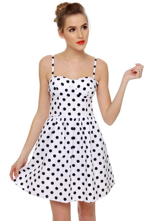 American Pinup Girl Polka Dot Dress