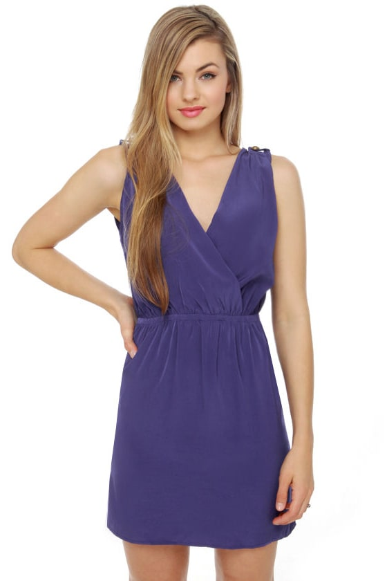 Epaulette It Be Indigo Blue Dress