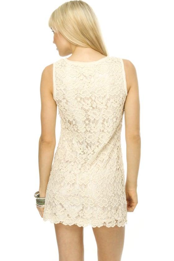 Parisian Affair Ivory Lace Dress