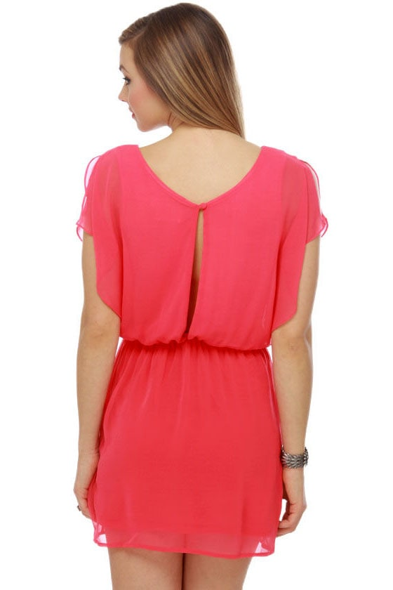 Whistling Pixie Coral Pink Dress