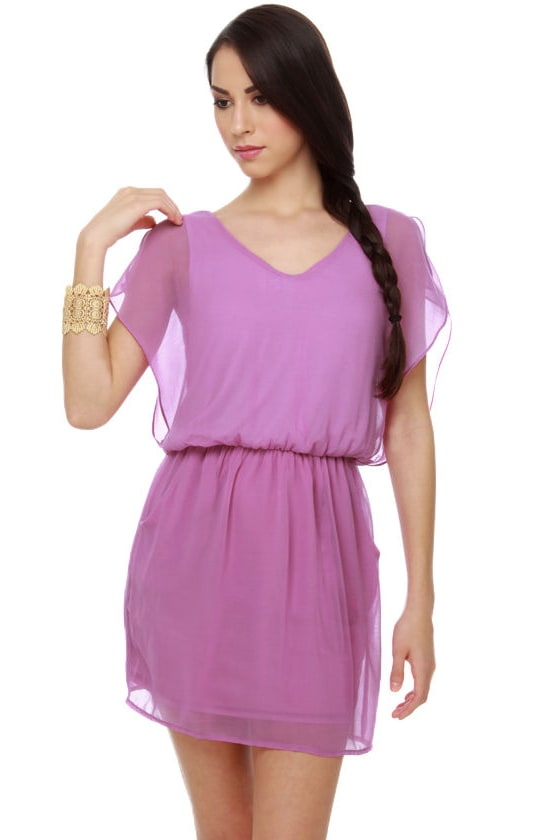 Whistling Pixie Purple Dress