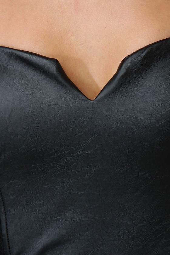 After Midnight Strapless Black Dress at Lulus.com!