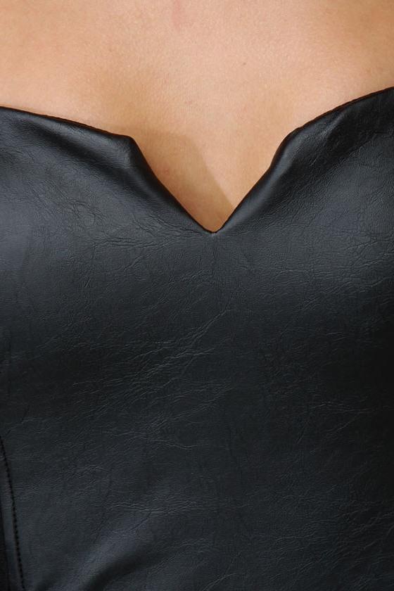 After Midnight Strapless Black Dress