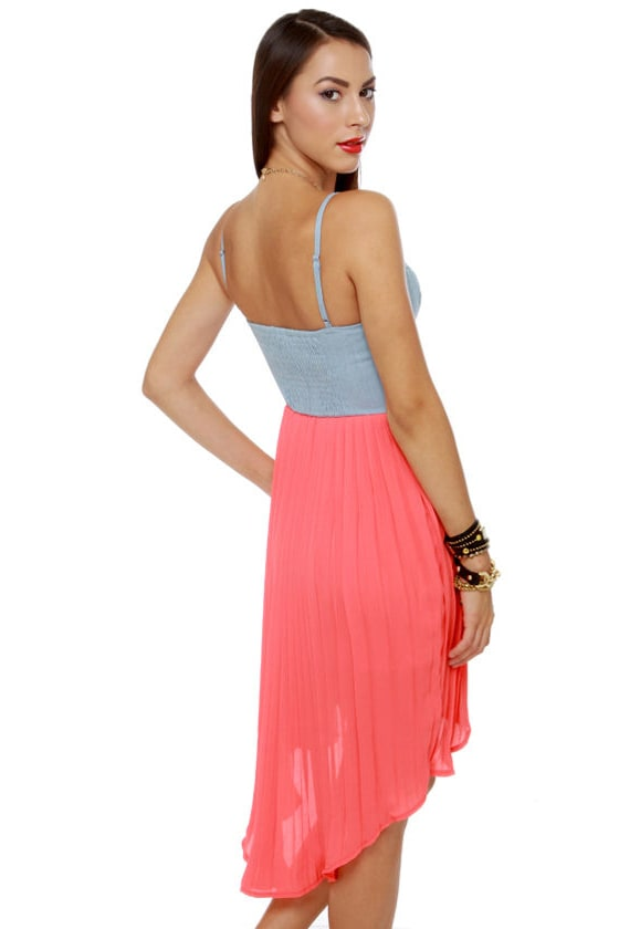Kool Raid Coral Red Bustier Dress at Lulus.com!