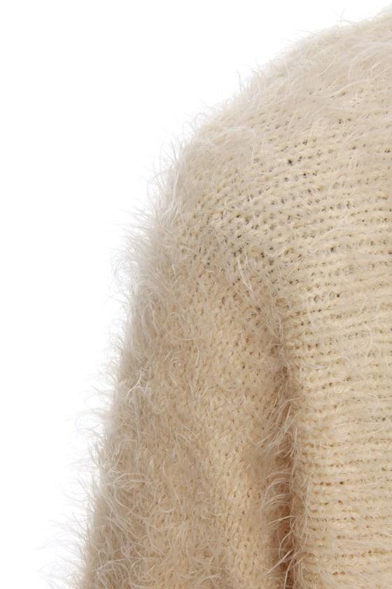 Custard Cream Cropped Sweater