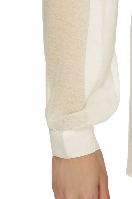 Nights in Candlelight Long Sleeve Ivory Top