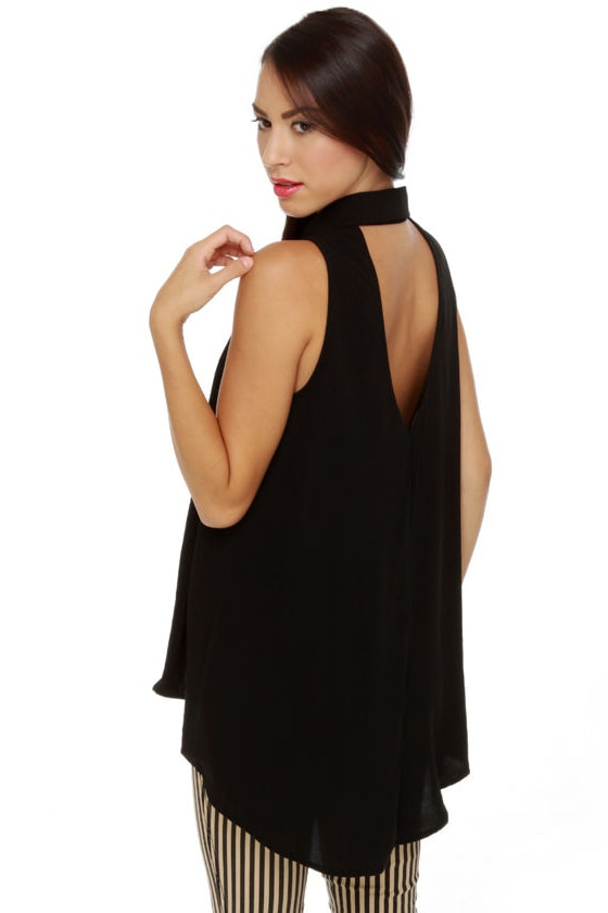 Tip-Top Sleeveless Black Top at Lulus.com!