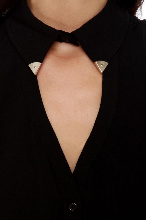 Tip-Top Sleeveless Black Top
