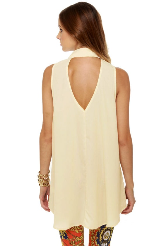 Tip-Top Sleeveless Cream Top