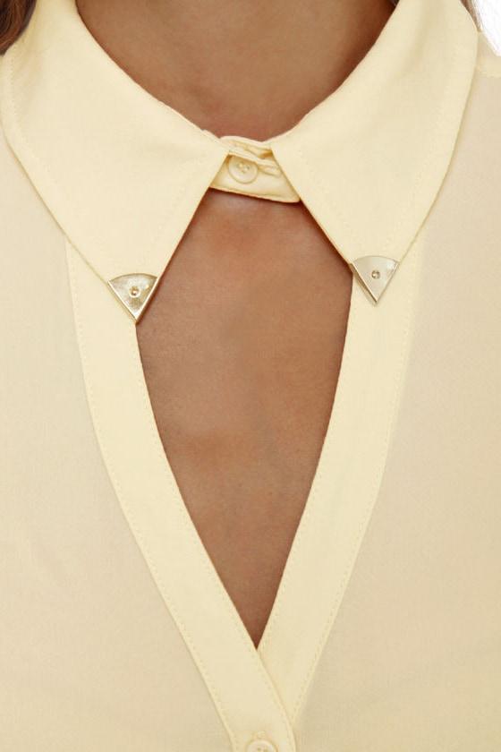 Tip-Top Sleeveless Cream Top