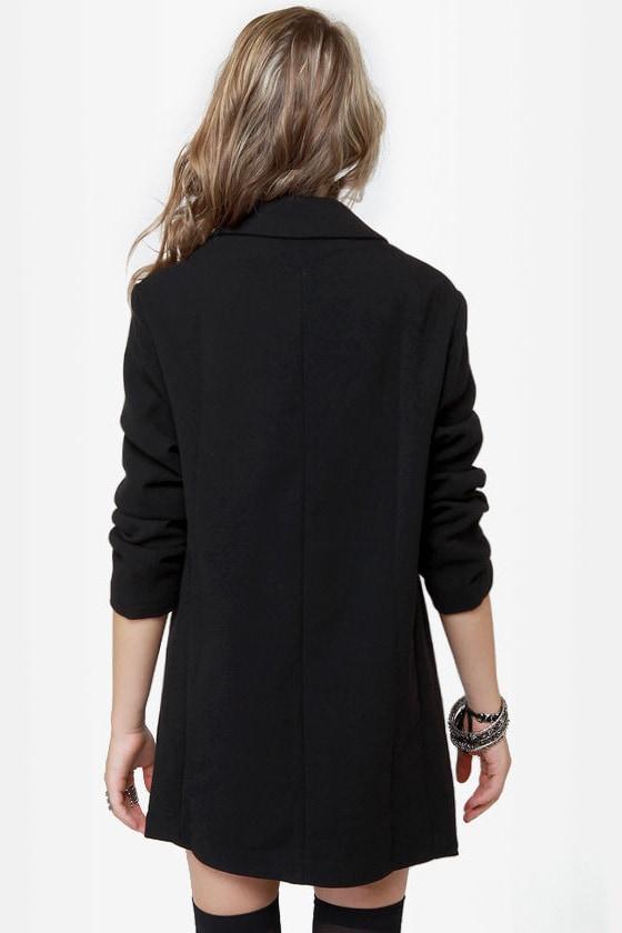 He Said, She Said Black Coat