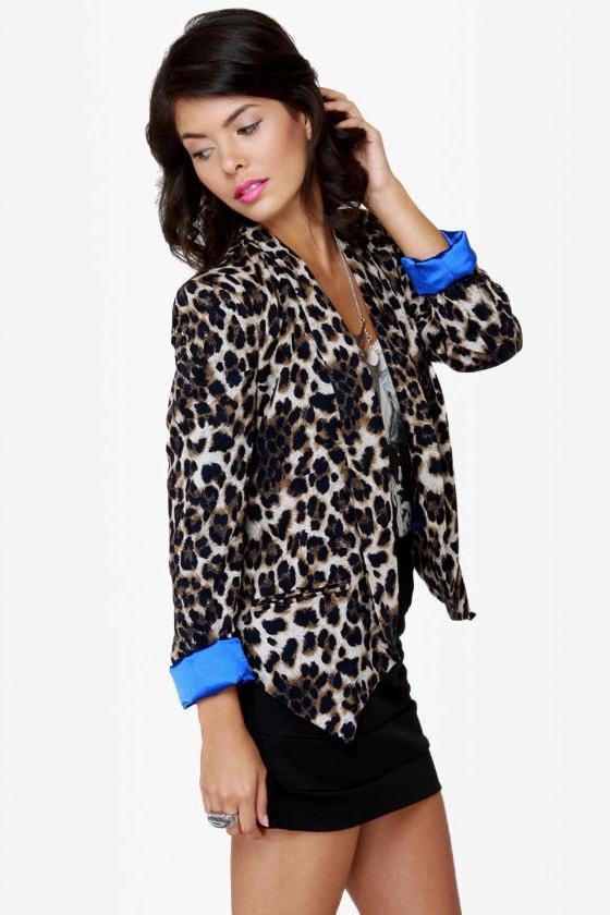 Tail-blazer Leopard Print Blazer