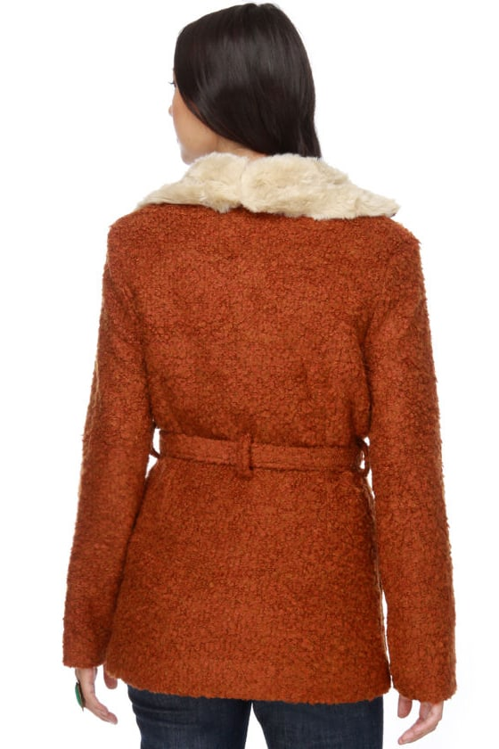 Mink Pink Agnes Burnt Orange Coat