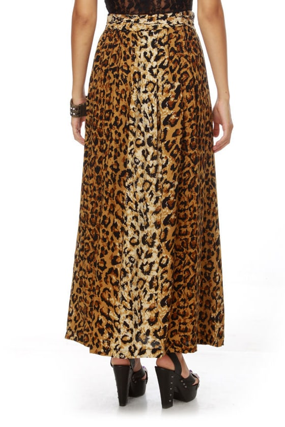 Mink Pink Call of the Wild Animal Print Maxi Skirt