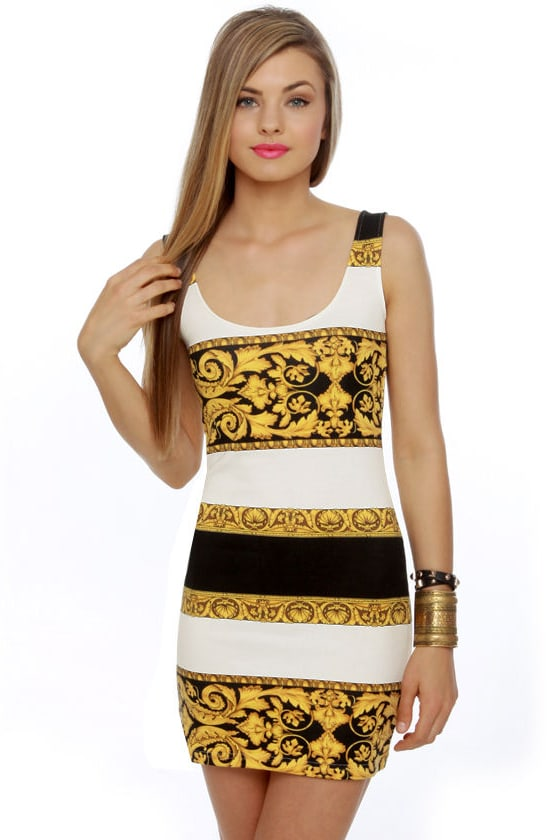 Mink Pink Donatella Print Dress