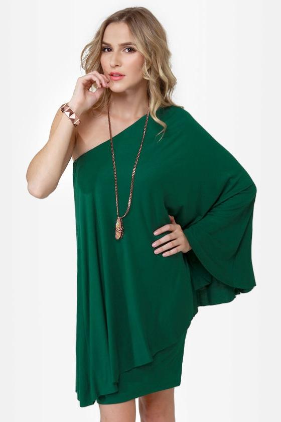 Leaves of Sass Dark Green Dress