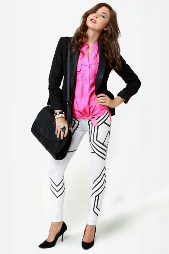 Circuits Act Ivory Leggings at Lulus.com!