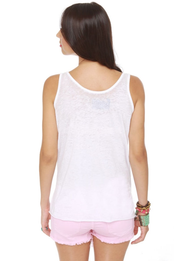 Local Celebrity Dolphin Jump White Tank Top at Lulus.com!