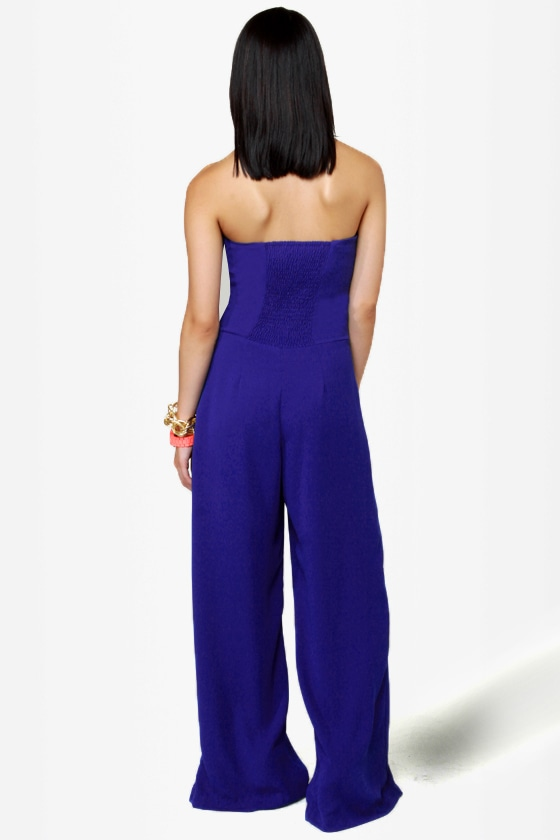 High Tide Blue Jumpsuit