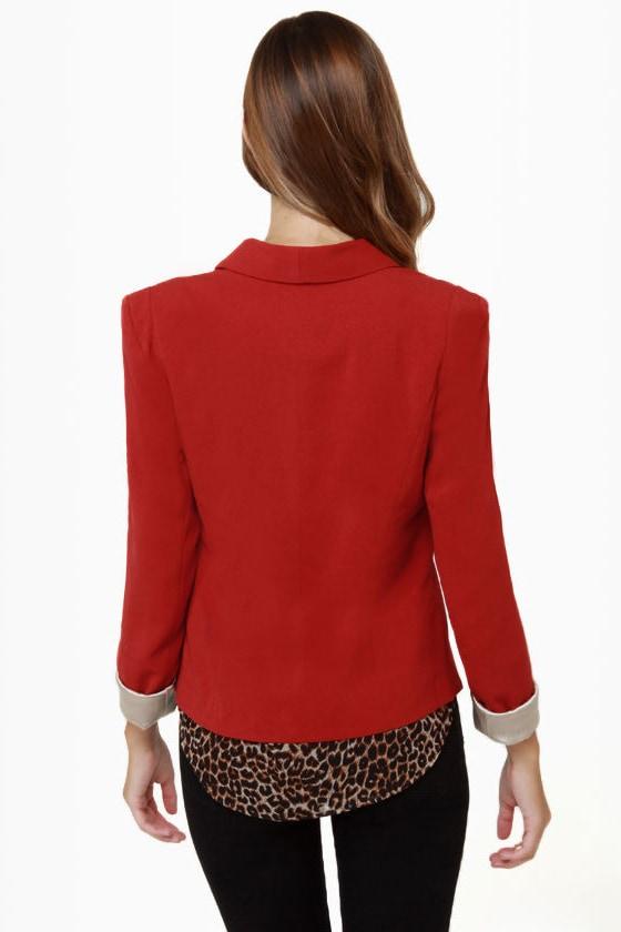 Make It a Date Rust Red Blazer