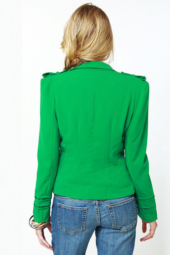 Cash Cropped Green Jacket