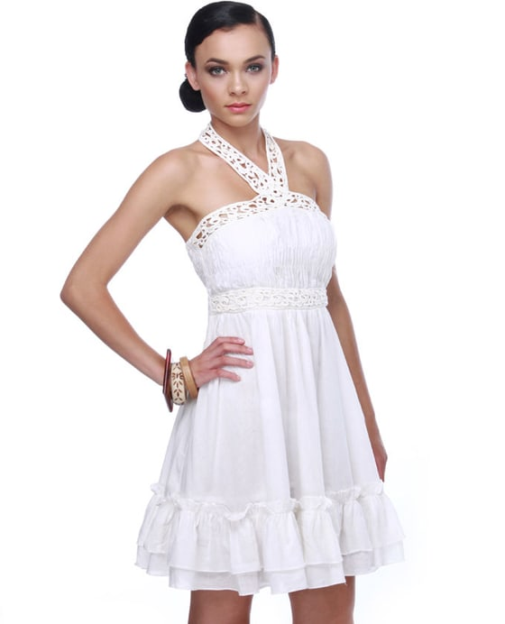 Kumbaya Ivory Halter Dress
