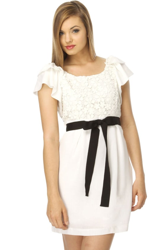 Retail Therapy White Dress