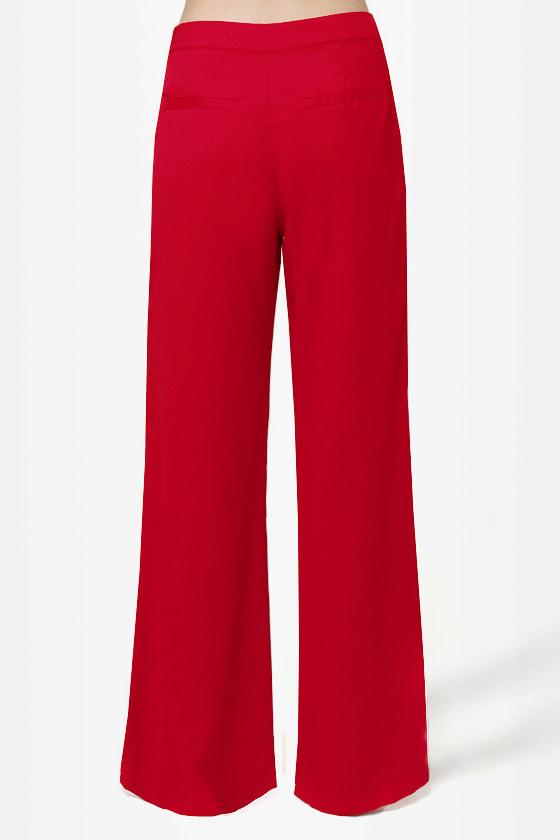 Chic Red Pants - Wide-Leg Pants - Red Slacks - $49.00