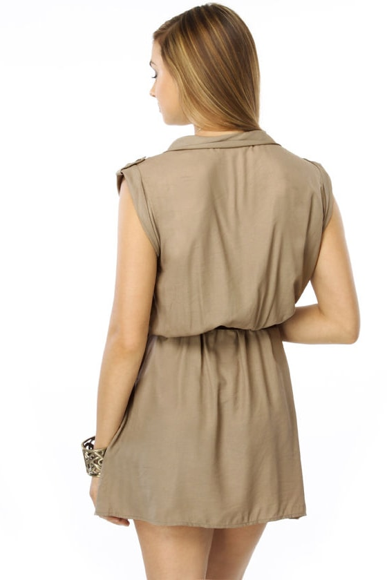 Dancing Down Under Taupe Dress