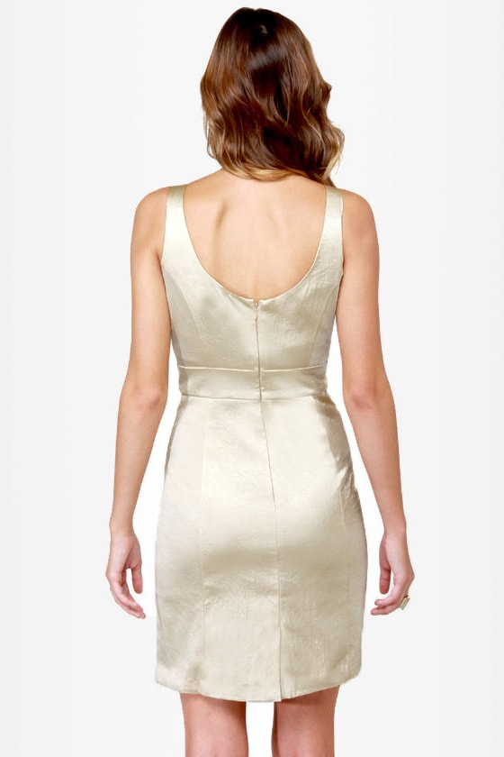 Poppin' Baubles Beaded Gold Dress at Lulus.com!