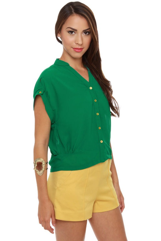 Cricket Song Sheer Green Top at Lulus.com!