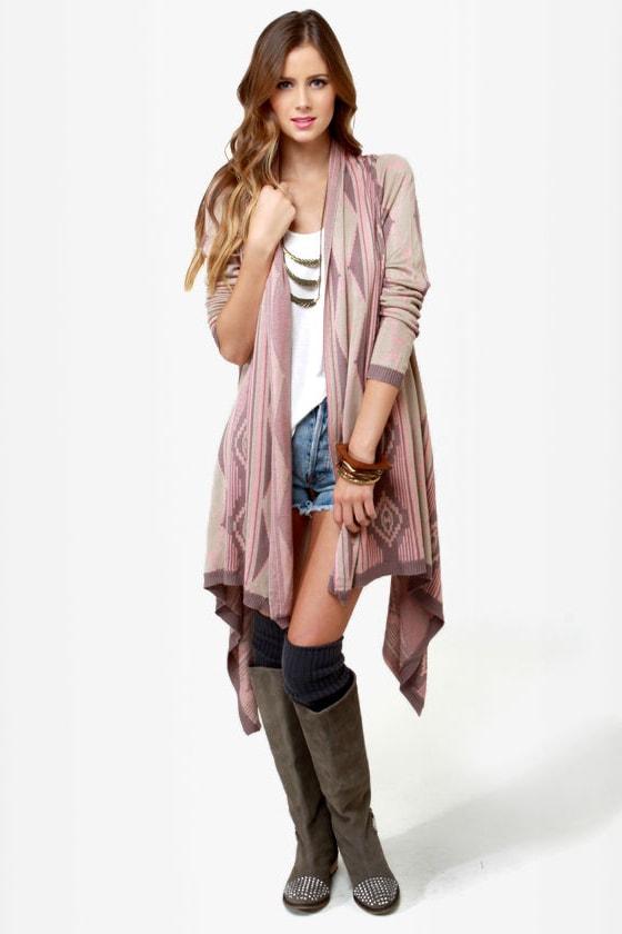 Cute Southwest Sweater - Sweater Wrap - Beige Sweater - $73.00