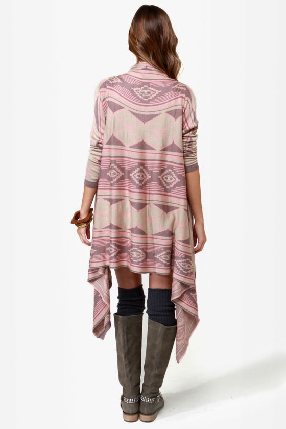 Heading Southwest Pink Sweater Wrap at Lulus.com!