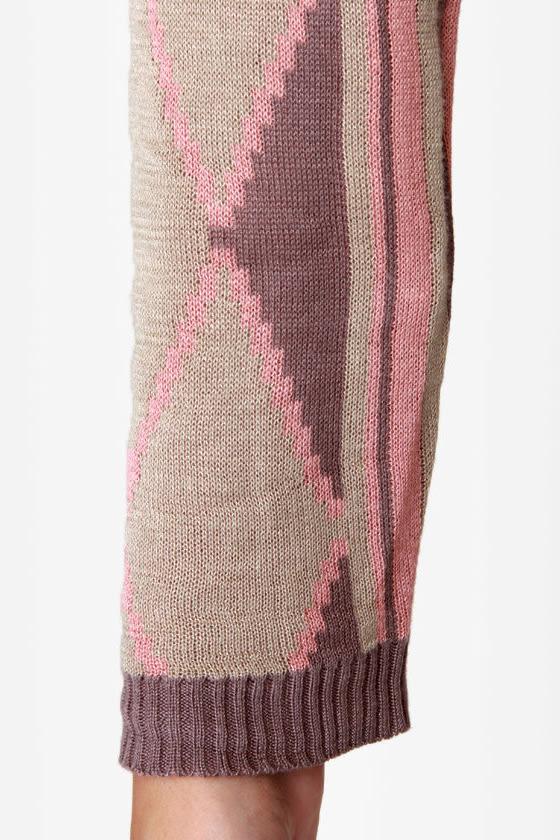 Heading Southwest Pink Sweater Wrap