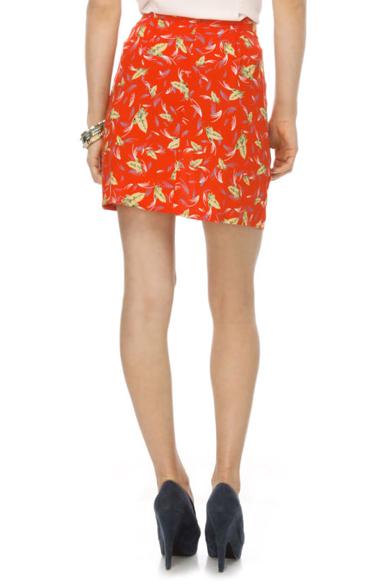 Many Belles Down YMCA Orange Skirt