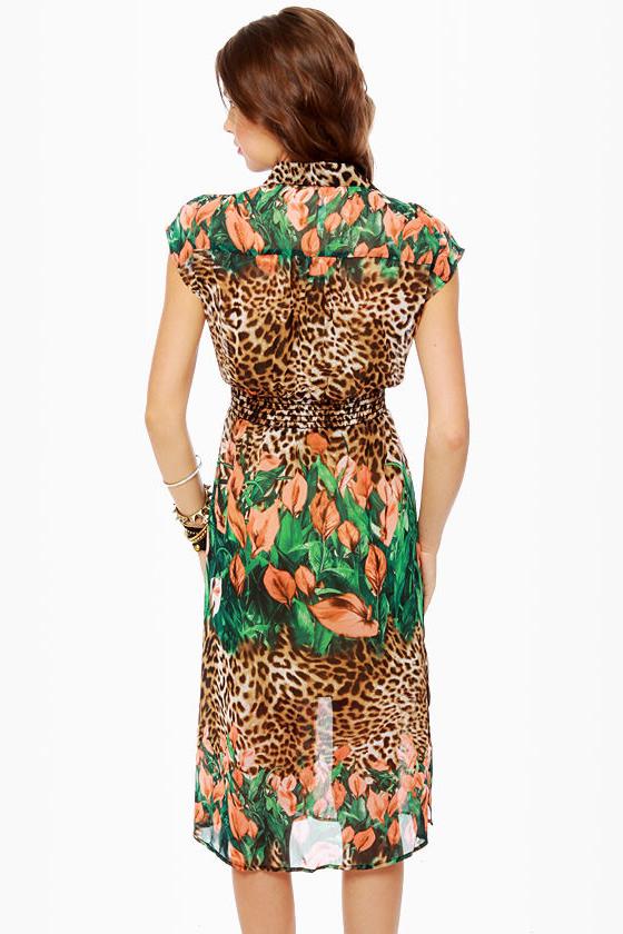 Run Through the Jungle Animal Print Dress