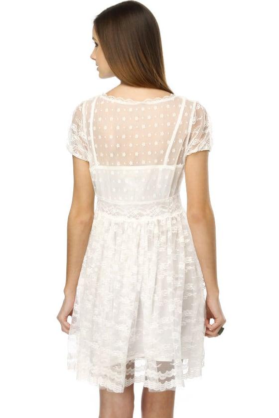 Antebellum Prayer Lace White Dress