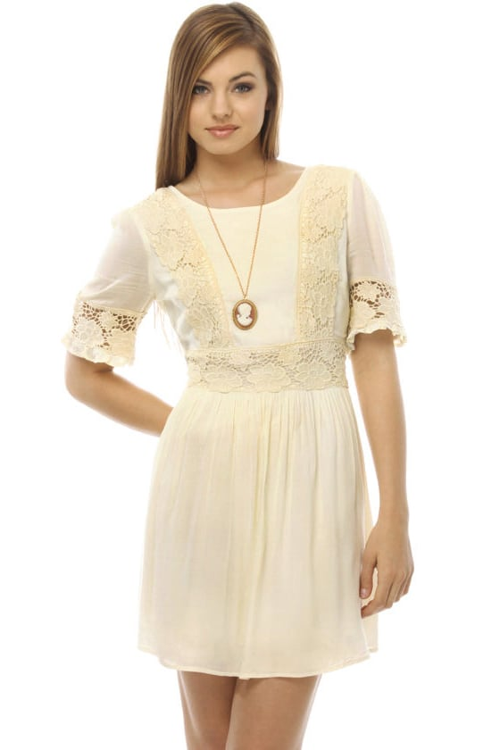 Sonnet for Adora Ivory Dress