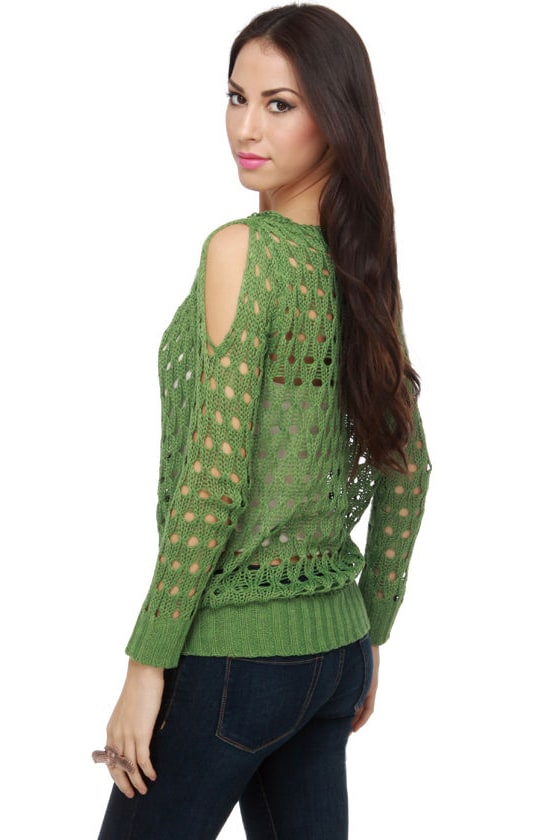 I Got Five On Knit Green Sweater Top