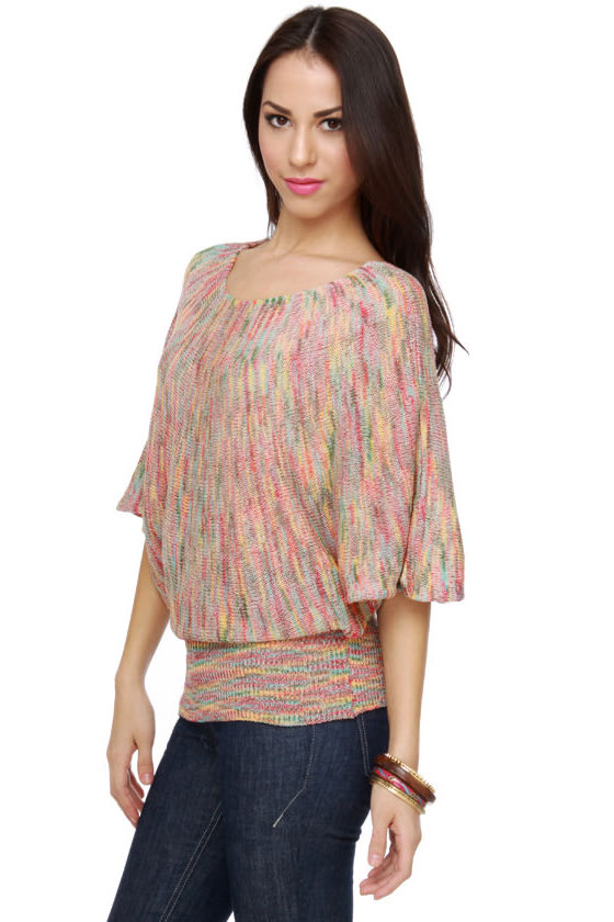 Tropicalia Multi Sweater Top