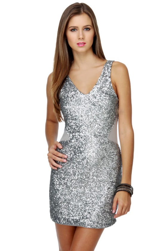 Sexy Sequin Dress Silver Dress Sparkly Dress 50 00