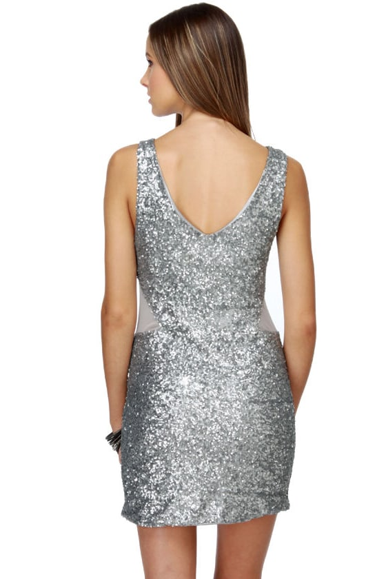 Glitter-ature 101 Silver Sequin Dress