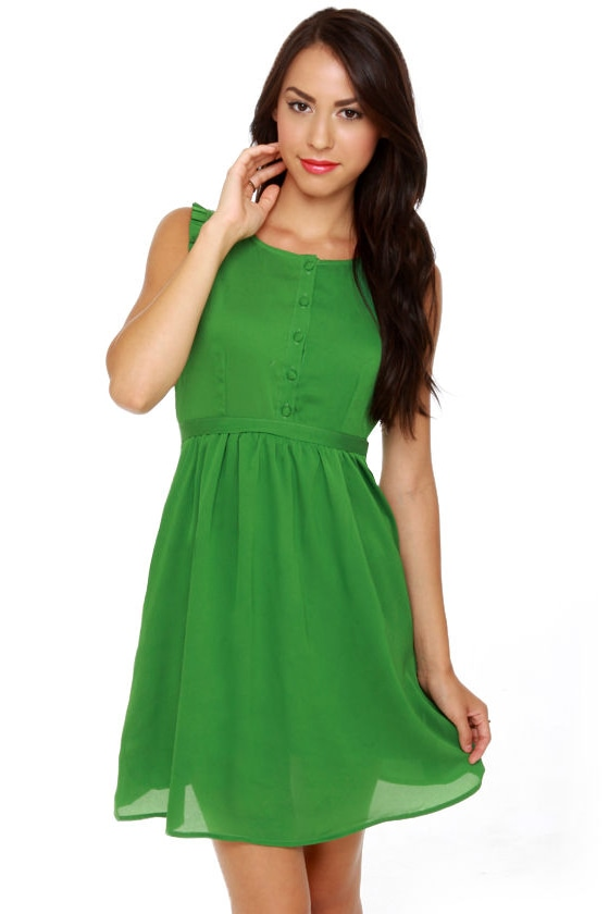 Tulle Emerald City Green Dress