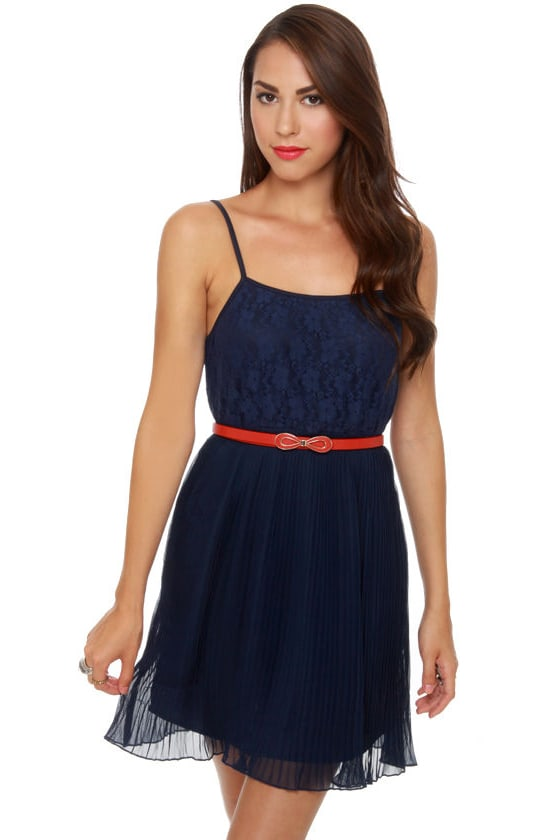 Tulle Dock of the Bay Navy Blue Dress at Lulus.com!