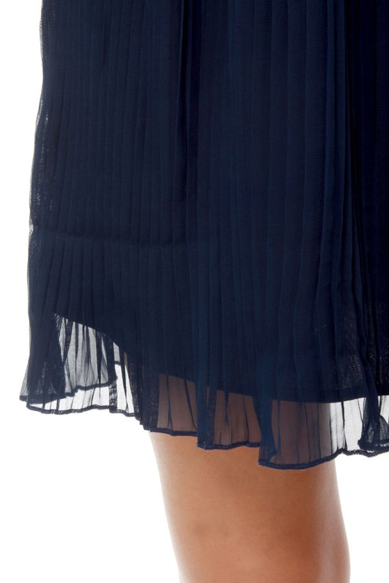 Tulle Dock of the Bay Navy Blue Dress